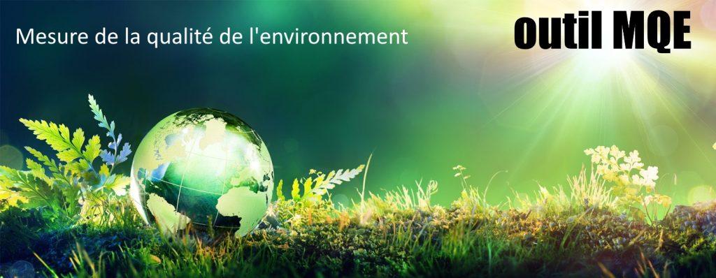 Outil mesure de la qualité de l'environnement