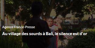 AFP-village des sourd à Bali